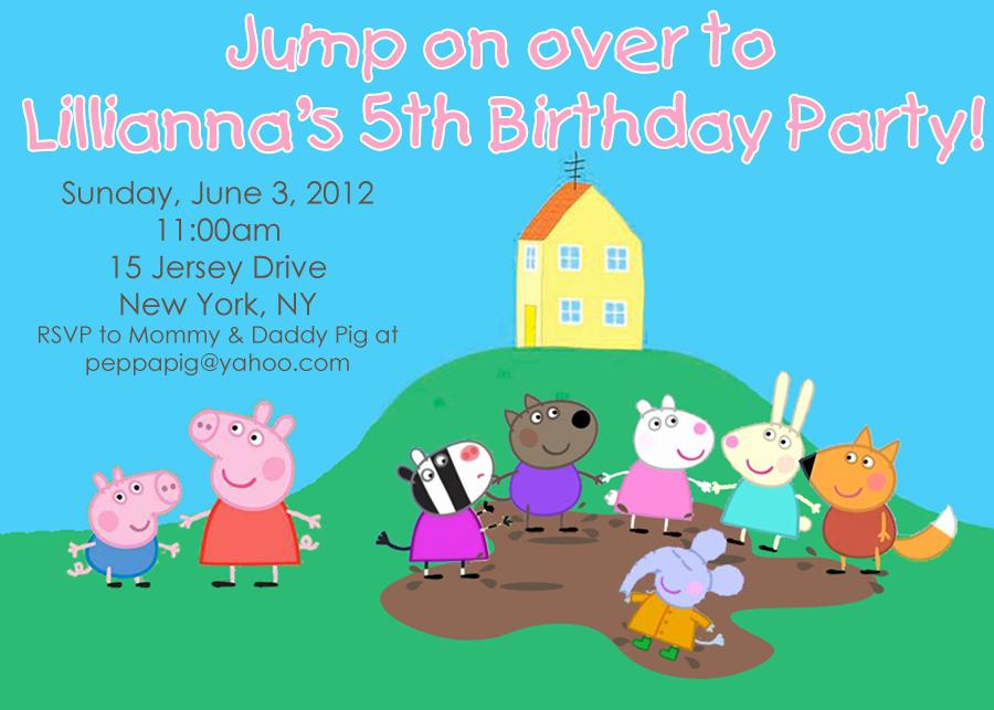 Peppa Pig Invitation Template Free Fresh Peppa Pig Muddy Puddles Party Invitation Jumping Jax