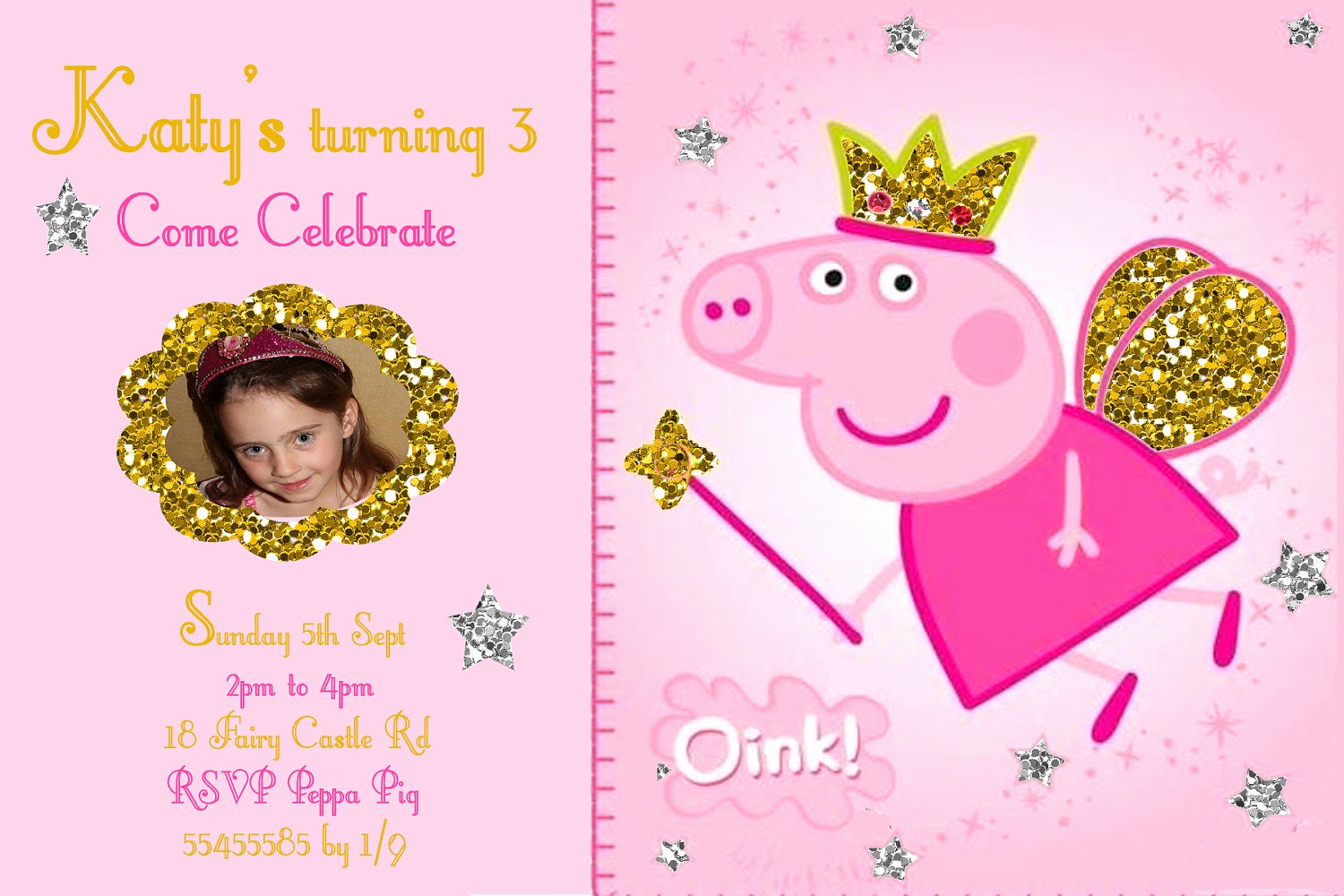 Peppa Pig Invitation Template Free Inspirational Items Similar to Peppa Pig Invitation Personalized On Etsy