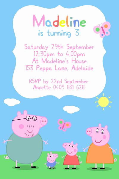Peppa Pig Invitation Template Free Lovely 25 Best Ideas About Peppa Pig Invitations On Pinterest