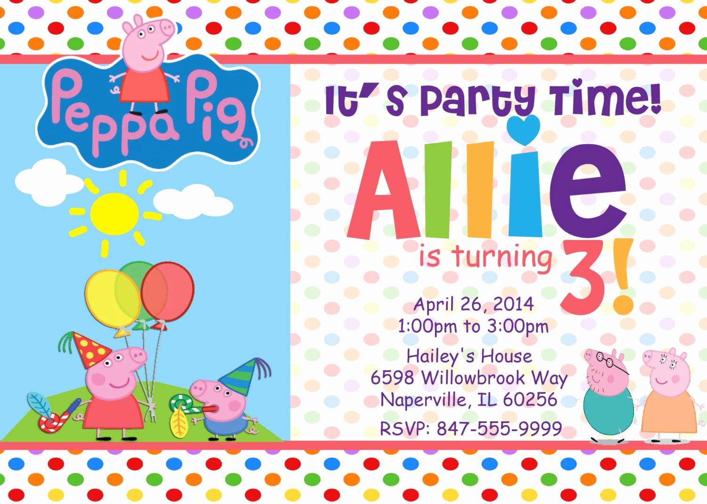 Peppa Pig Invitation Template Free Lovely Haz Un Pedido Personalizado Y Recibe Algo Hecho