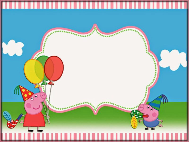 Peppa Pig Invitation Template Free Lovely Peppa Pig Invitations Make People Smile