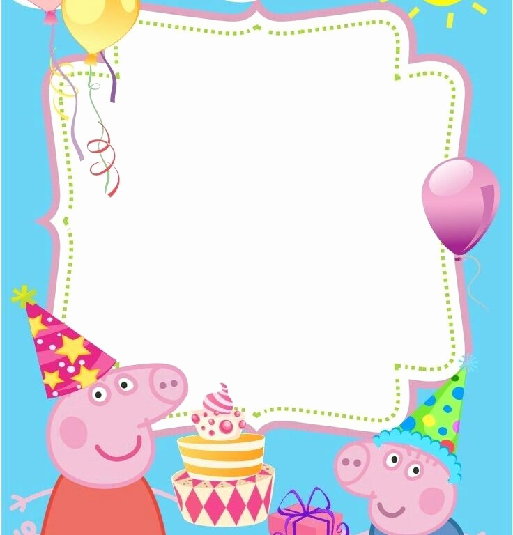 Peppa Pig Invitation Template Free Lovely Peppa Pig Party Invitations Cobypic