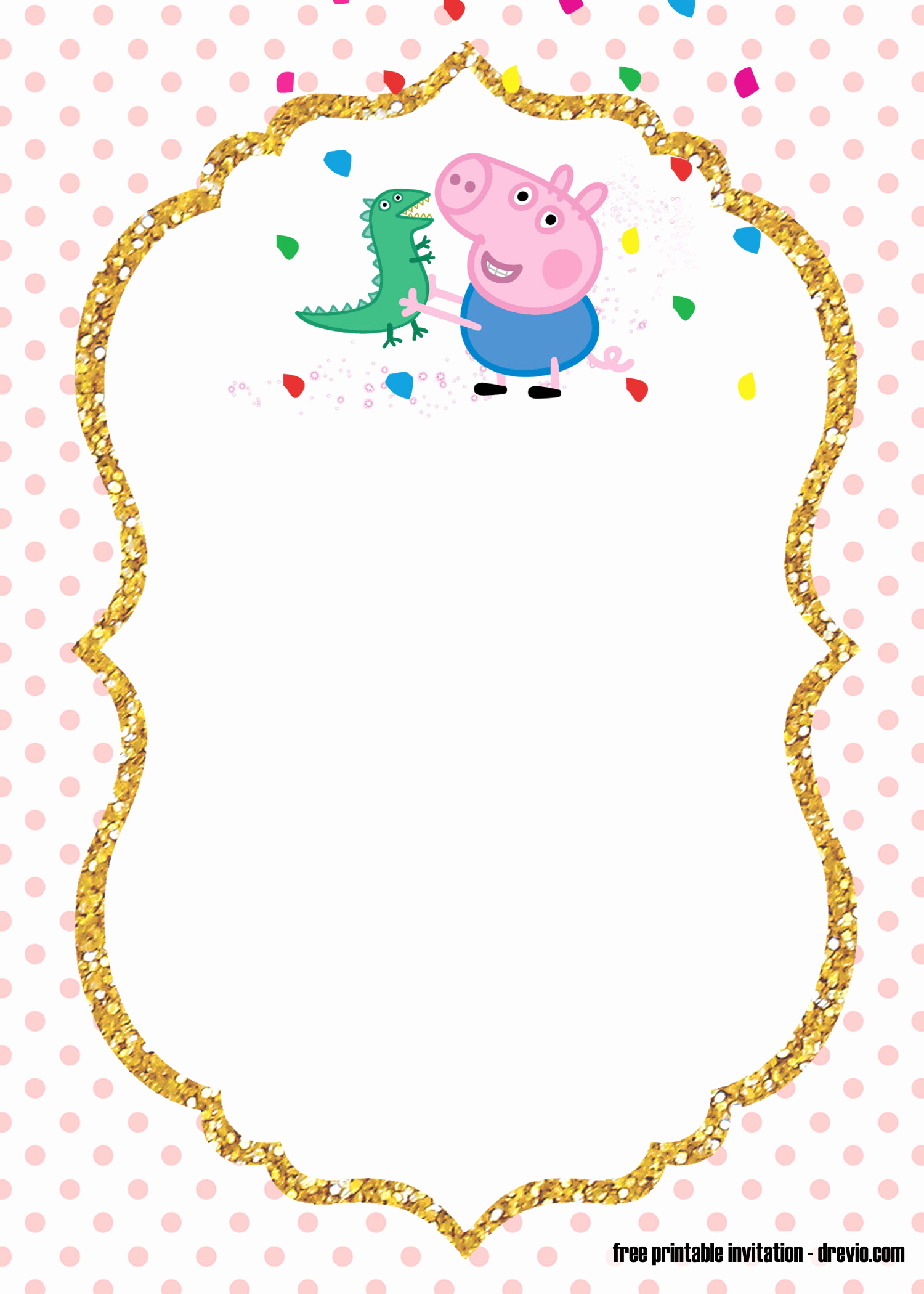 Peppa Pig Invitation Template Free Luxury Free Printable Peppa Pig Invitation Template Free