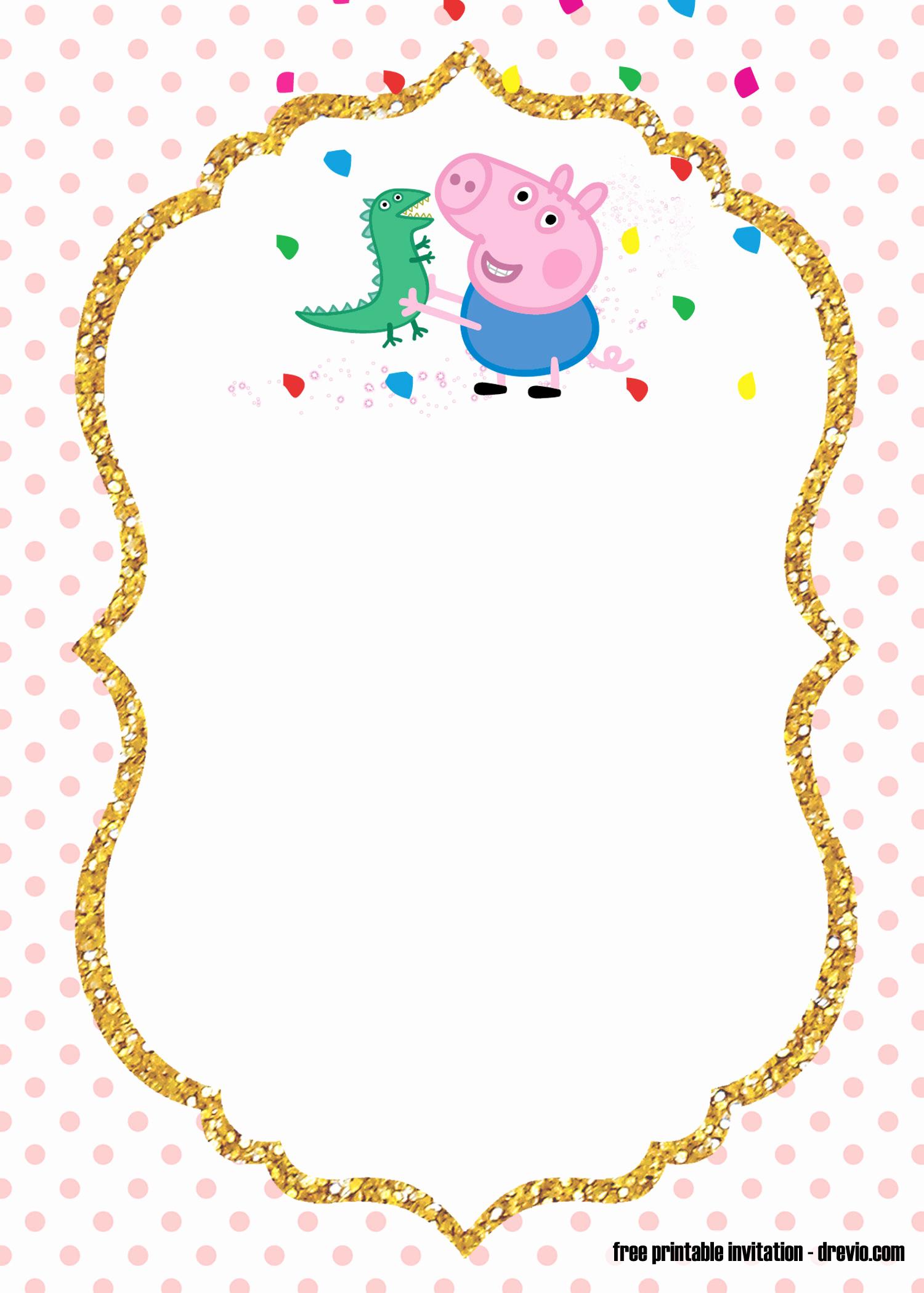 Peppa Pig Invitation Template Free Luxury Free Printable Peppa Pig Invitation Template Free