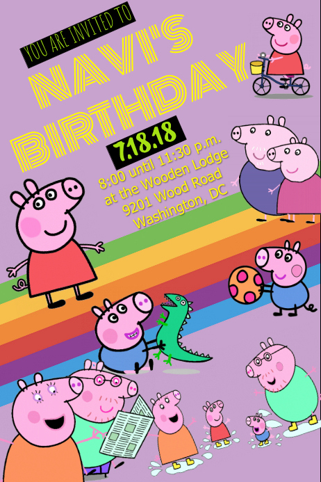 Peppa Pig Invitation Template Free New Peppa Pig Invitation Template