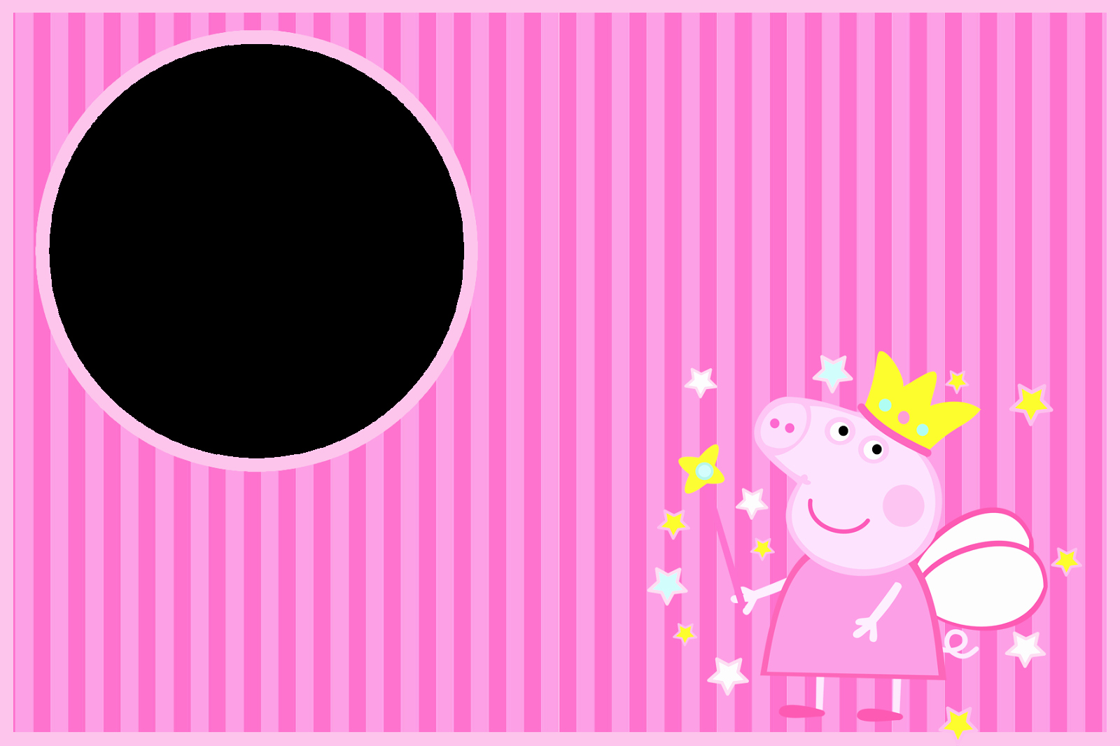 Peppa Pig Invitation Template Free Unique Peppa Pig Fairy Invitations and Free Party Printables