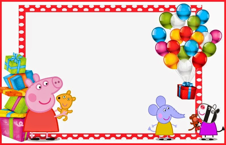 Peppa Pig Invitation Template Fresh Peppa Pig Free Printable Invitations Labels or Cards
