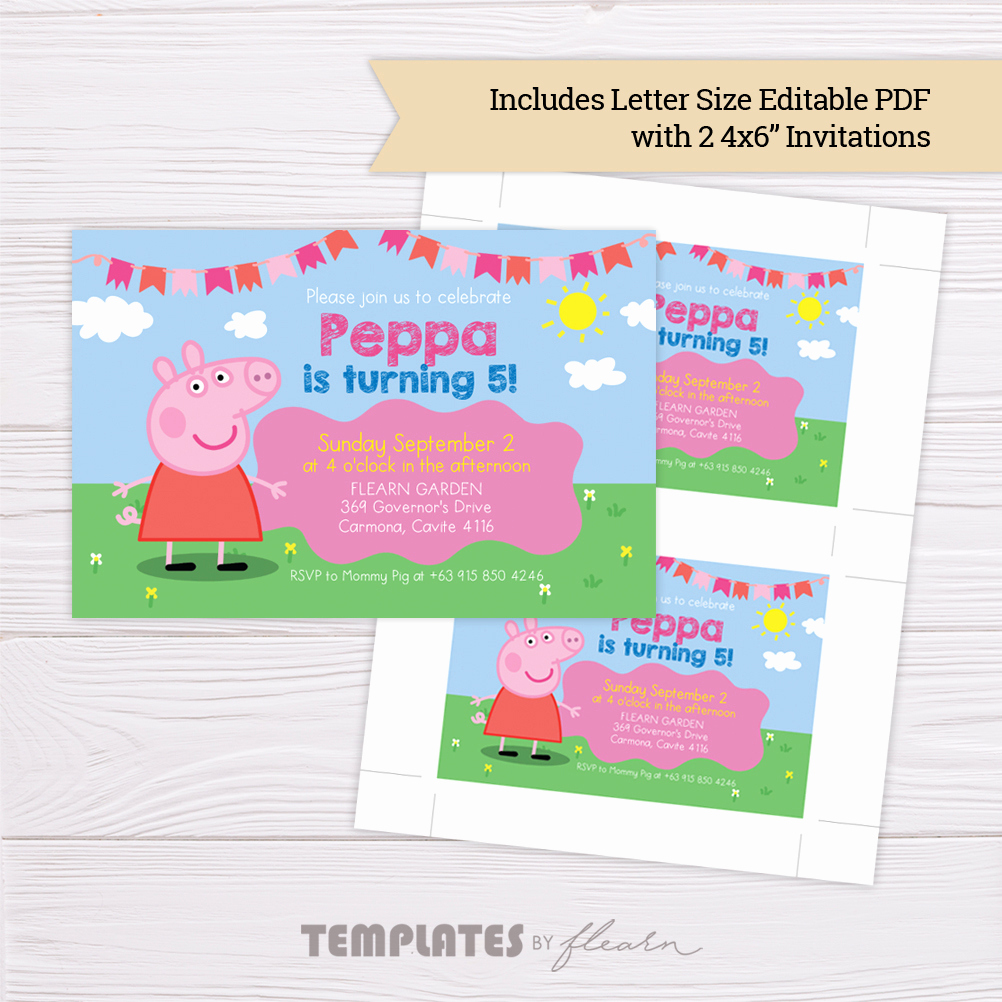 Peppa Pig Invitation Template Inspirational Free Peppa Pig Invitation Template – Flearn Ph
