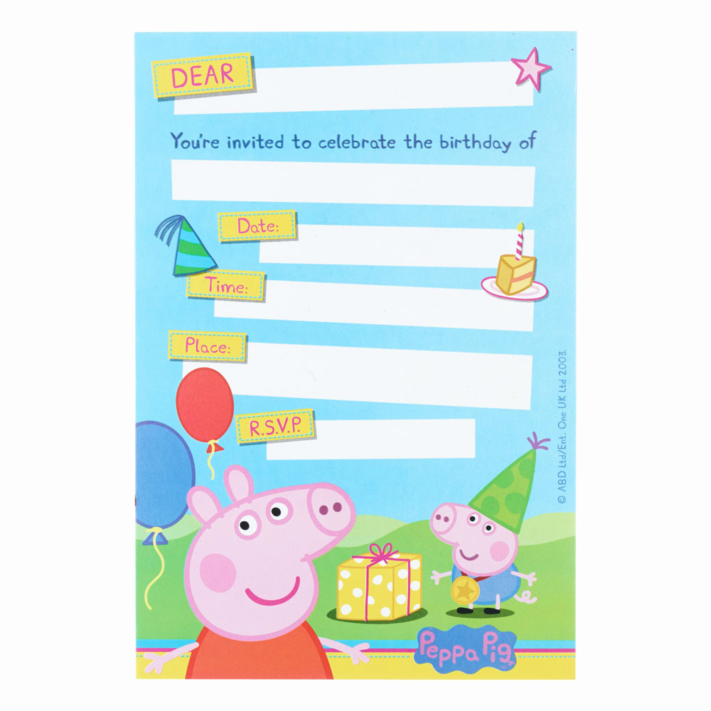 Peppa Pig Invitation Template Inspirational Template Gallery Page 11