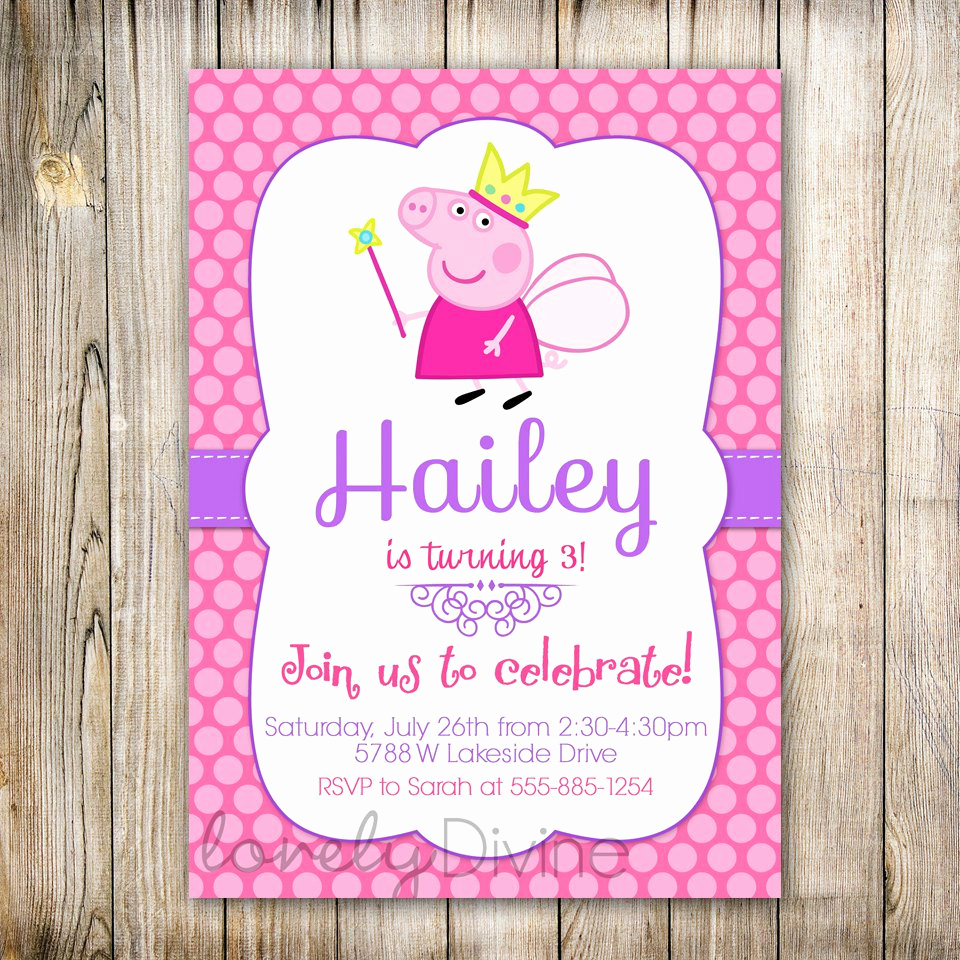 Peppa Pig Invitation Template New Peppa Pig Birthday Party Invitations