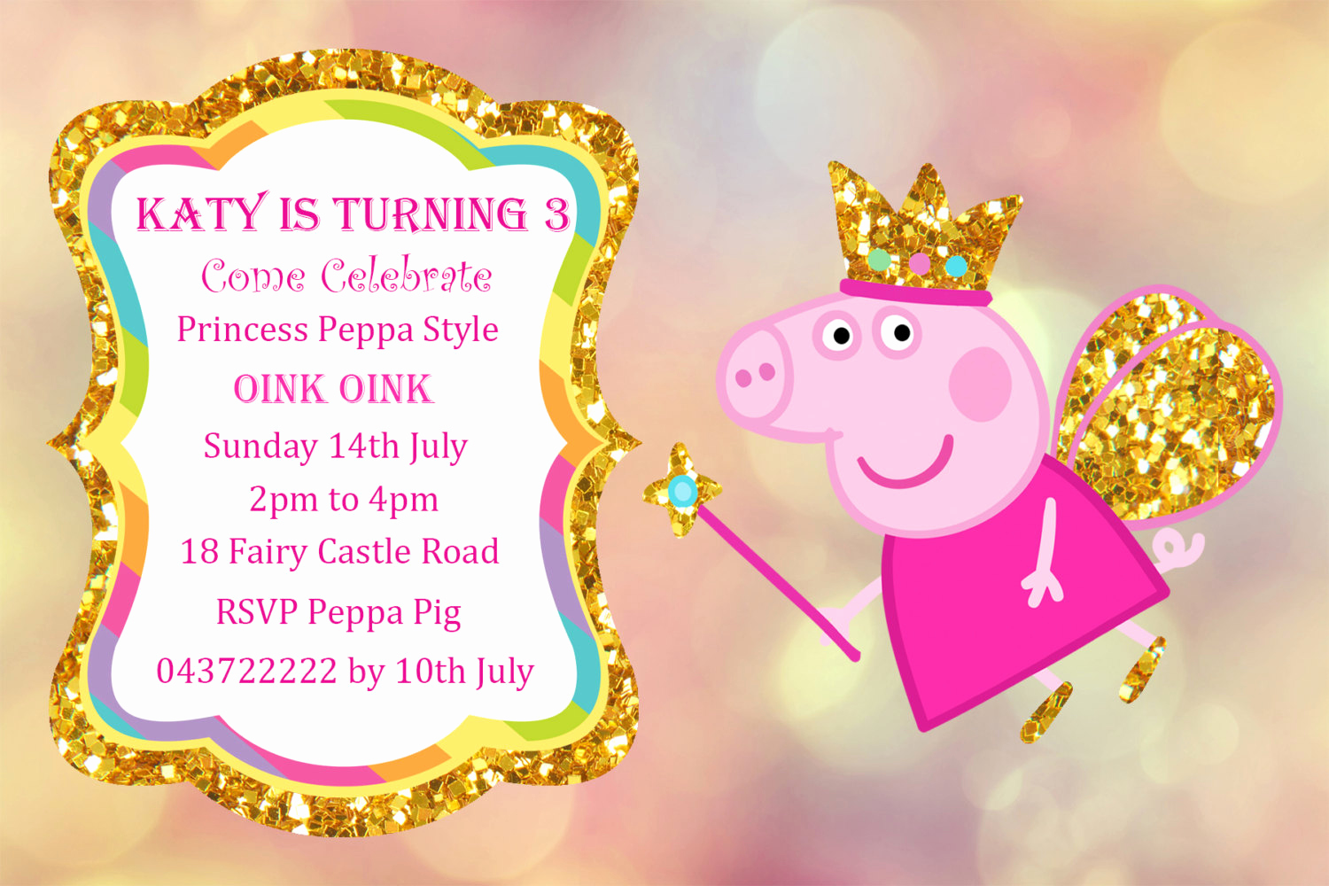 Peppa Pig Invitation Template Unique Peppa Pig Party Invitations Templates