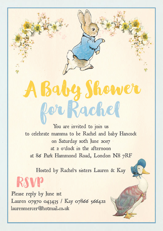 Peter Rabbit Baby Shower Invitation Awesome Peter Rabbit & Jemima Puddle Duck Baby Shower Invitation