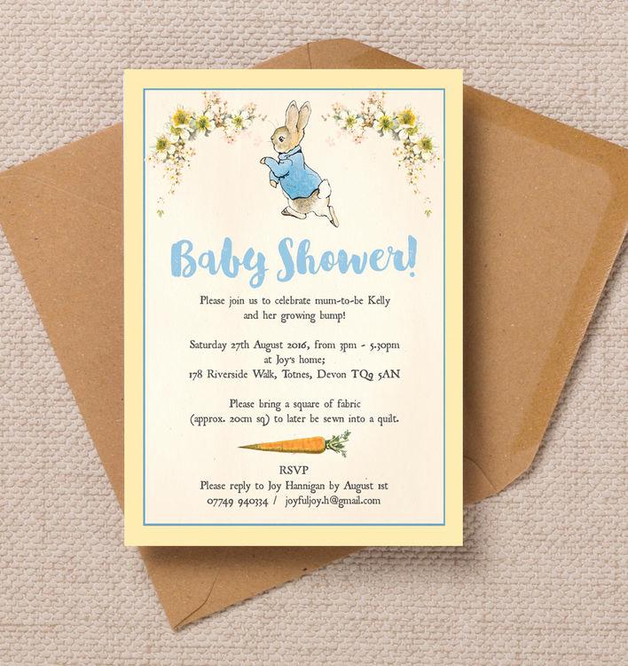 Peter Rabbit Baby Shower Invitation Best Of Peter Rabbit Baby Shower Invitation From £0 80 Each