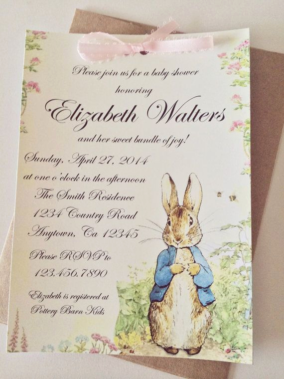 Peter Rabbit Baby Shower Invitation Fresh Peter Rabbit Beatrix Potter Baby Shower or Birthday Party