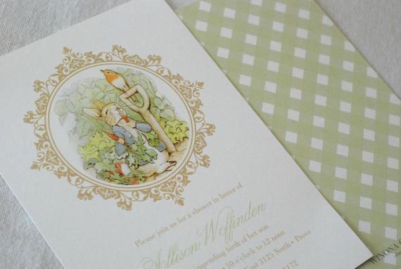 Peter Rabbit Baby Shower Invitation New Printable Peter Rabbit Baby Shower Invitation by