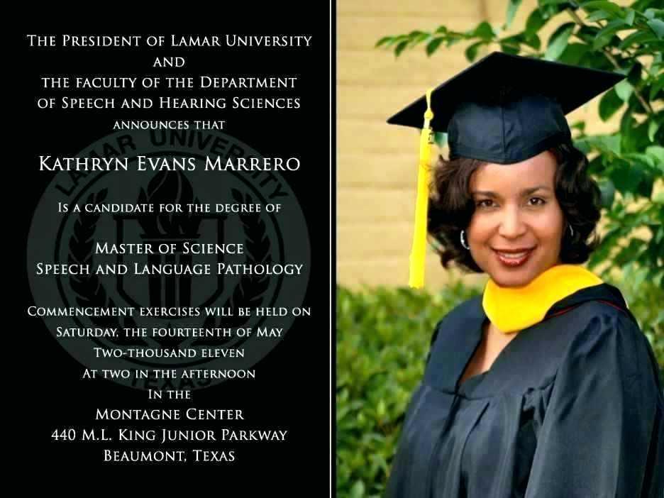 Phd Graduation Invitation Wording Awesome Phd Graduation Announcement Invitation Template – Abdullahtech