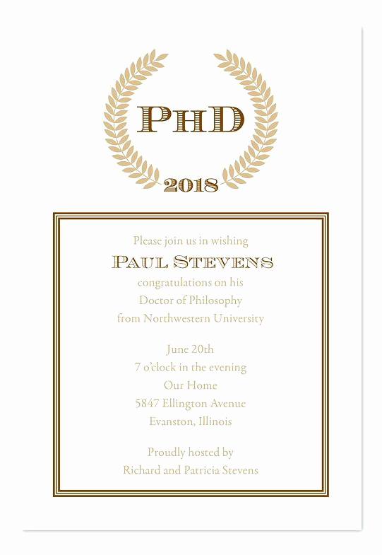Phd Graduation Invitation Wording Beautiful Doctorate Graduation Invitations – orgul Gbt