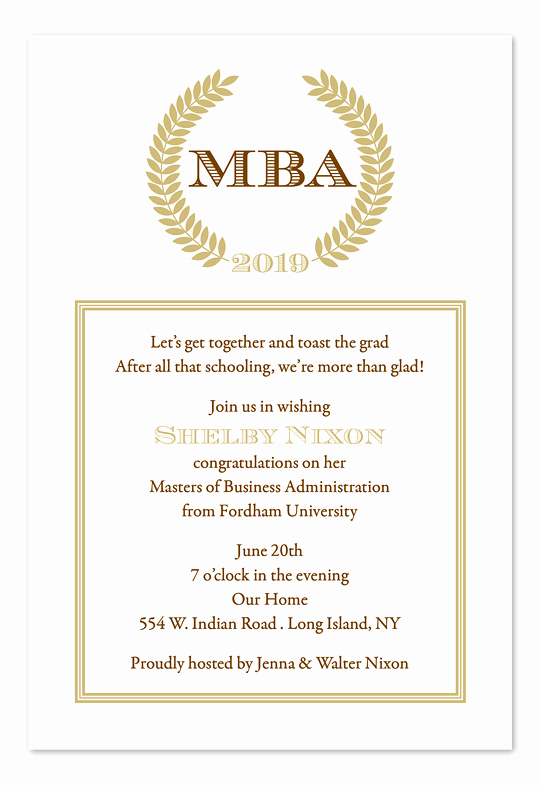 Phd Graduation Invitation Wording Lovely sophisticated Graduate Graduation Announcements by