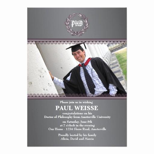 Phd Graduation Invitation Wording Unique 600 Phd Invitations Phd Announcements & Invites