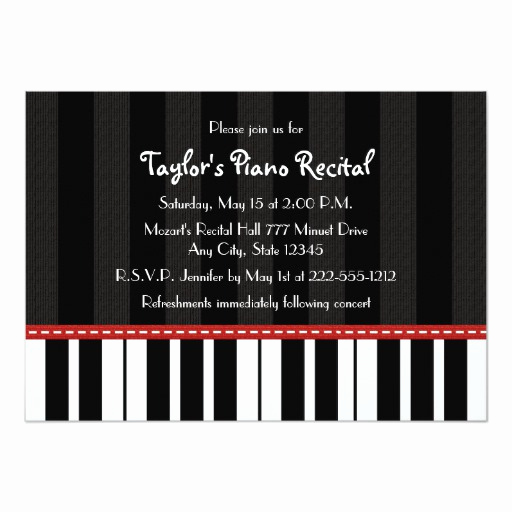Piano Recital Invitation Template Free Awesome Piano Recital Invitations Invites
