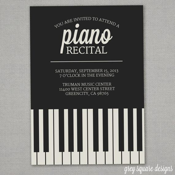 Piano Recital Invitation Template Free Best Of Piano Recital Invitation