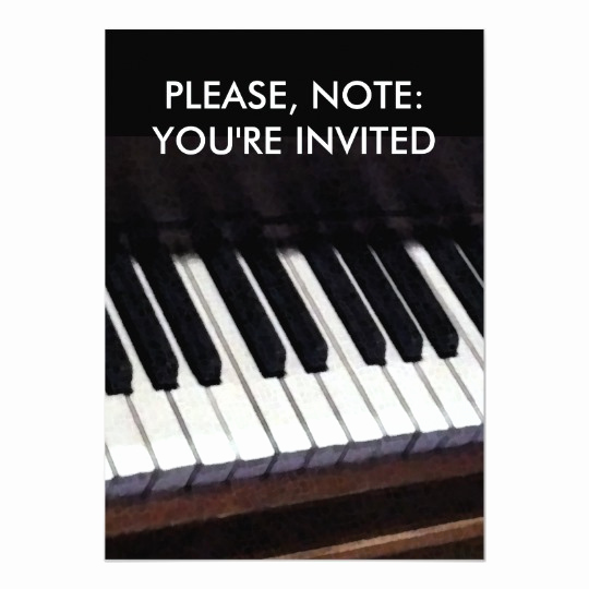 Piano Recital Invitation Template Free Best Of Piano Recital Invitations