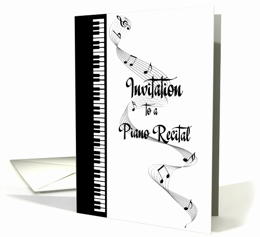Piano Recital Invitation Template Free Inspirational Piano Recital Invitation Card