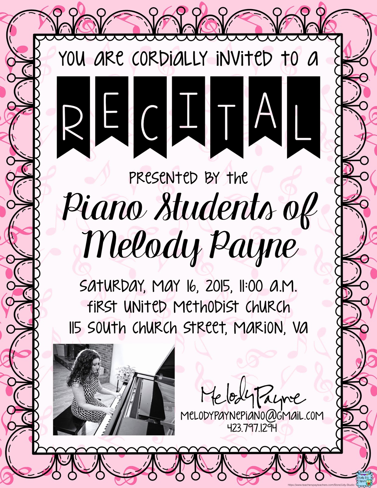 Piano Recital Invitation Template Free Luxury Easy Recital Prep and Gift Idea for Students
