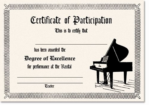 Piano Recital Invitation Template Free New 11 Best Recital Certificates Images On Pinterest