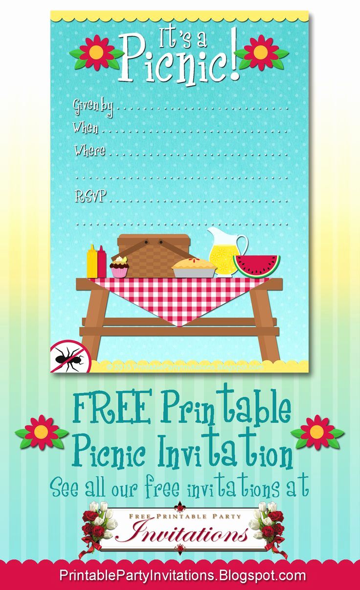 Picnic Invitation Templates Free Awesome Free Printable Picnic Invitation
