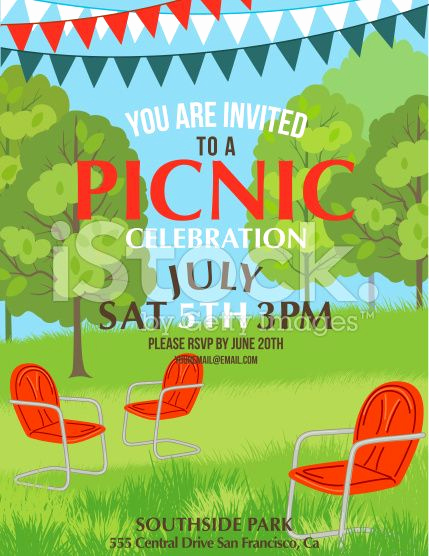 Picnic Invitation Templates Free Awesome Summer Picnic Party Invitation Template Royalty Free Stock