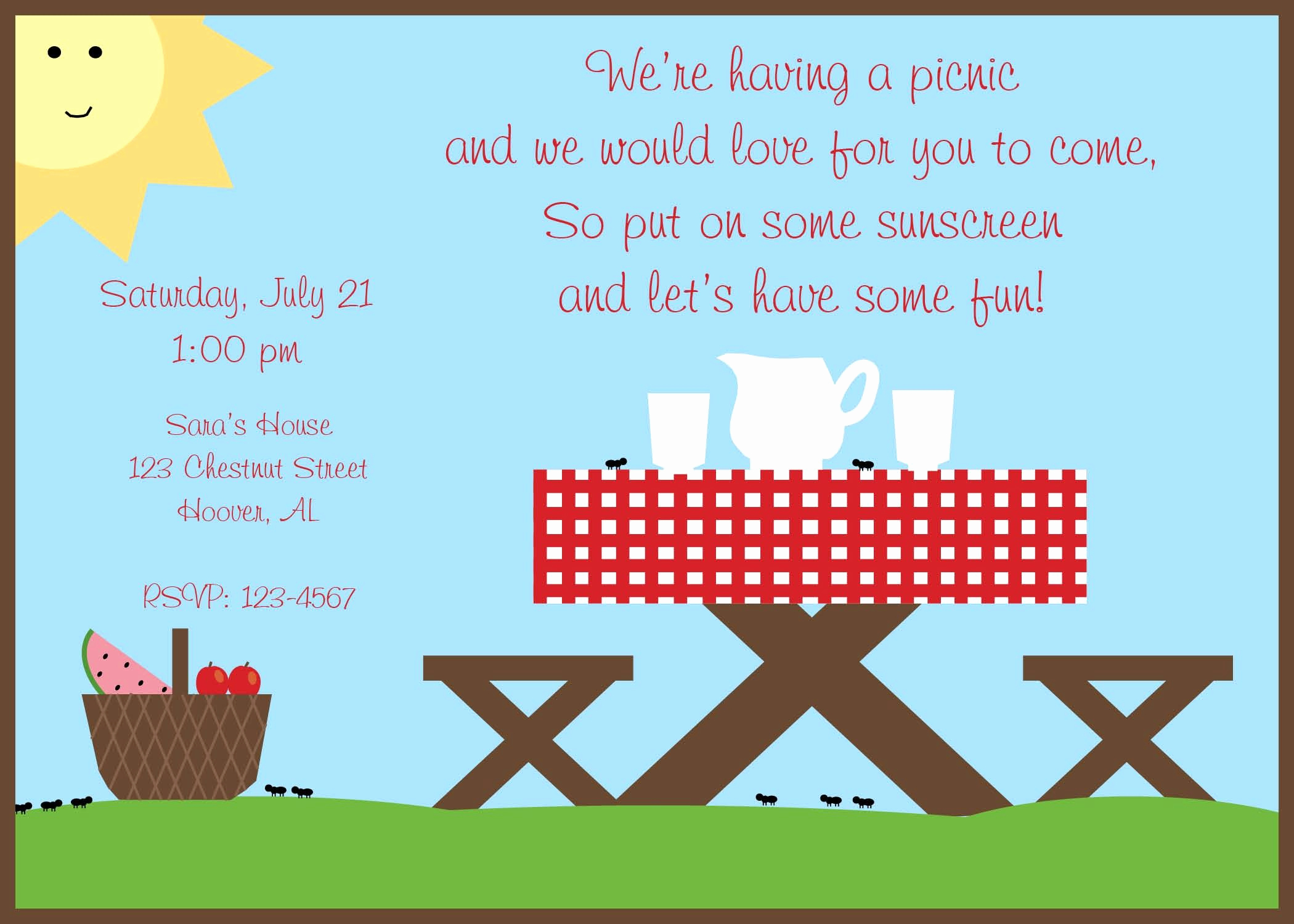 Picnic Invitation Templates Free Best Of Perfect Picnic Quotes Google Search
