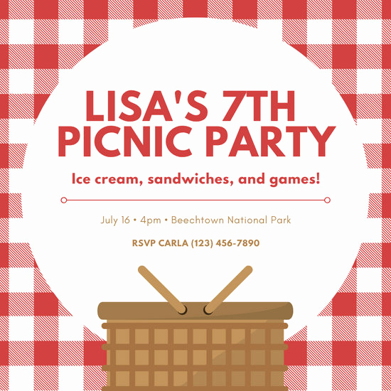 Picnic Invitation Templates Free Elegant Customize 70 Picnic Invitation Templates Online Canva