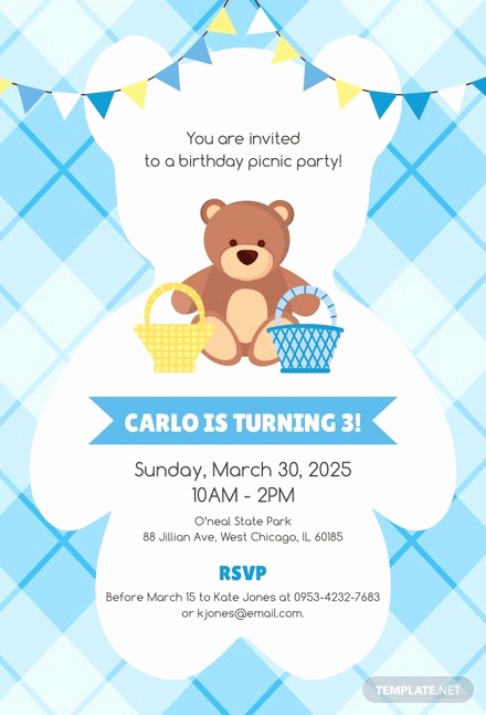 Picnic Invitation Templates Free Elegant Free Picnic Party Invitation Template In Microsoft Word
