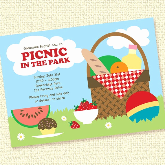 Picnic Invitation Templates Free Fresh 67 Best Picnic Cards Images On Pinterest