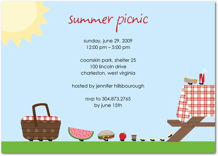 Picnic Invitation Templates Free Lovely Coisitas Que Interessantes Festa Pic Nic