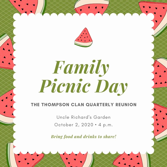 Picnic Invitation Templates Free Lovely Customize 61 Picnic Invitation Templates Online Canva
