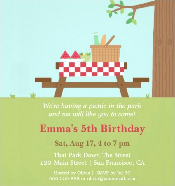 Picnic Invitation Templates Free Luxury 16 Picnic Invitations Psd Eps Ai Word