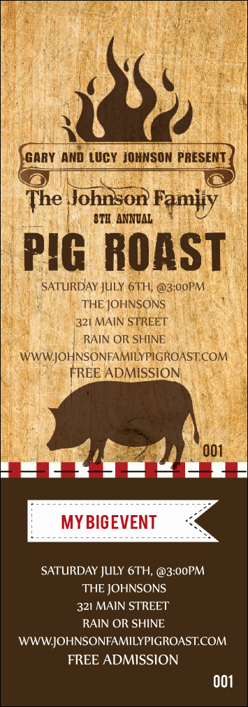 Pig Roast Invitation Template Free Awesome Pig Roast event Ticket