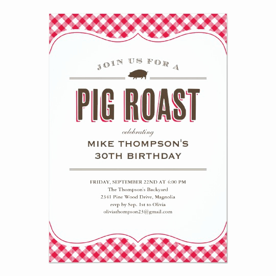 Pig Roast Invitation Template Free Awesome Pig Roast Table Cloth Invitations