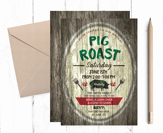 Pig Roast Invitation Template Free Elegant Pig Roast Invitation Pig Roast Invitations Pig Roast