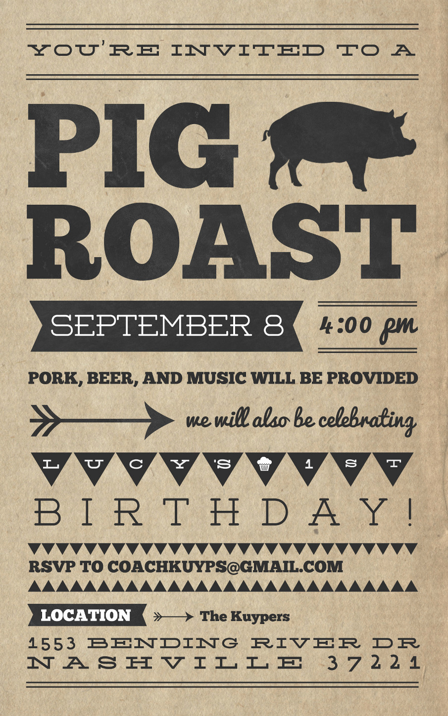 Pig Roast Invitation Template Free Fresh Pig Roast Invitation Templates