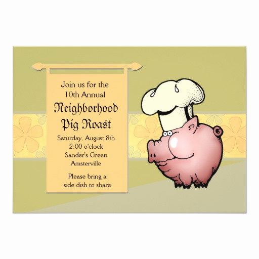 Pig Roast Invitation Template Free Lovely Pig Roast Invitation