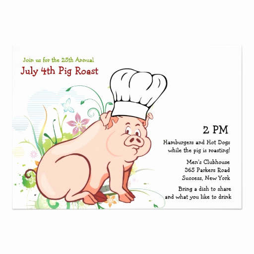 Pig Roast Invitation Template Free Luxury A who Roast Pig Roast Invitation