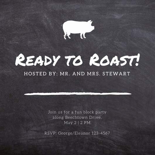 Pig Roast Invitation Template Free Unique Customize 55 Pig Roast Invitation Templates Online Canva