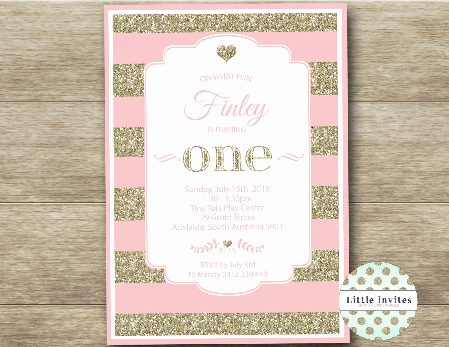 Pink and Gold Birthday Invitation Elegant Pink and Gold Birthday Pink and Gold Glitter Invitation Pink