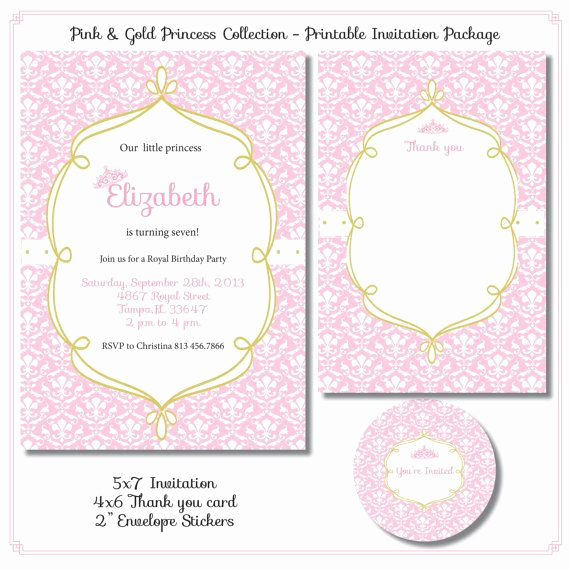 Pink and Gold Birthday Invitation Fresh Gold and Pink Paris Birthday Invitations