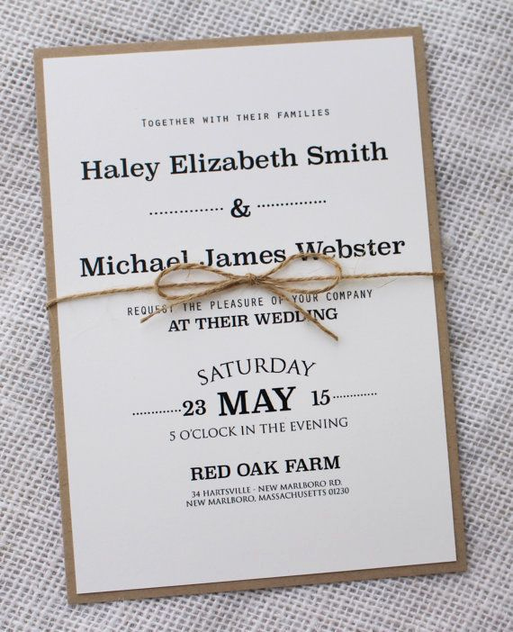 Pinterest Wedding Invitation Ideas Unique Modern Wedding Invitation Rustic Chic Wedding Invitation