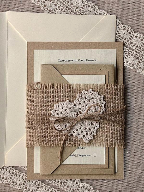 Pinterest Wedding Invitation Ideas Unique top 15 Popular Rustic Wedding Invitaitons Idea Samples On