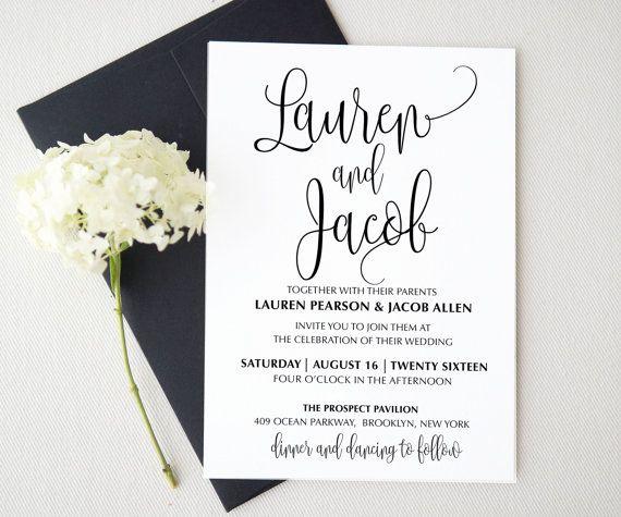 Pinterest Wedding Invitation Wording Beautiful Wedding Invitation Template Printable Wedding Invitation